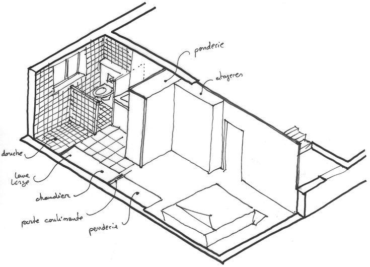transformer un sous sol en suite parentale suite parentale pinterest croquis sous sol and. Black Bedroom Furniture Sets. Home Design Ideas