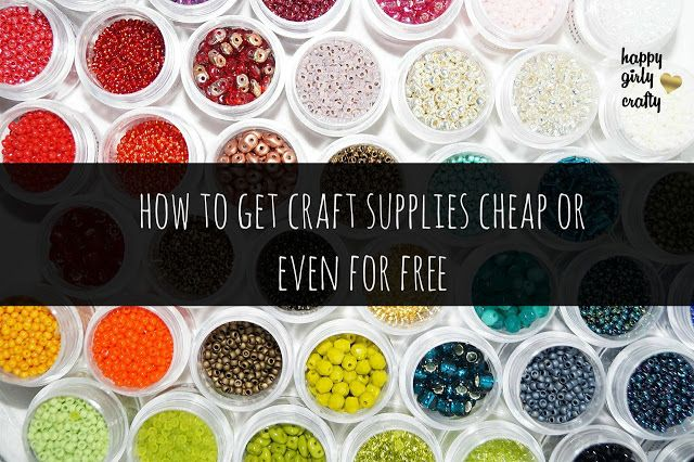 How to get craft supplies cheap or even for free!