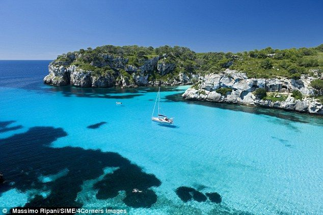 Peace and quiet, pictured: Menorca revels in quiet coves, little beaches and…