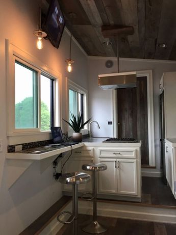 Stony Ledge 30ft Tiny House on Wheels with a Downstairs Bedroom