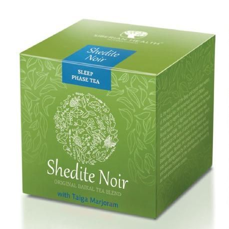 Shedite Noir - Sleep Phase Tea  Sleep Phase Tea With Taiga Marjoram Herb Shedite Noir Sleep Phase Tea helps relieve stress and calm your body so that you can sleep well again and wake up full of energy.