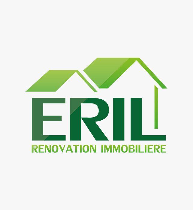 Création de la nouvelle identité de la société ERIL Rénovation Immobilière à Lyon.