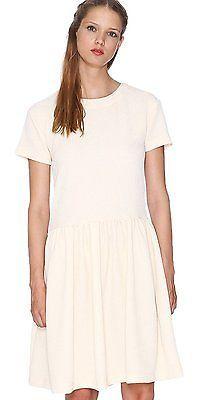UK 14, cream (CREAM), Pepa Loves Women's Antonela Short Sleeve Dress NEW