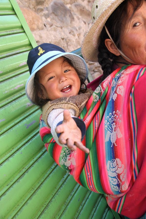 Bolivian Mother & Child 12 x 18 fine art print,  Market, La Paz, Bolivia                                                                                                                                                                                 More