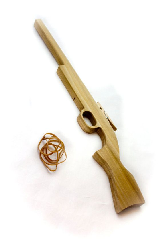 Wooden Rifle Rubber Band Gun by VerryCherryToys on Etsy