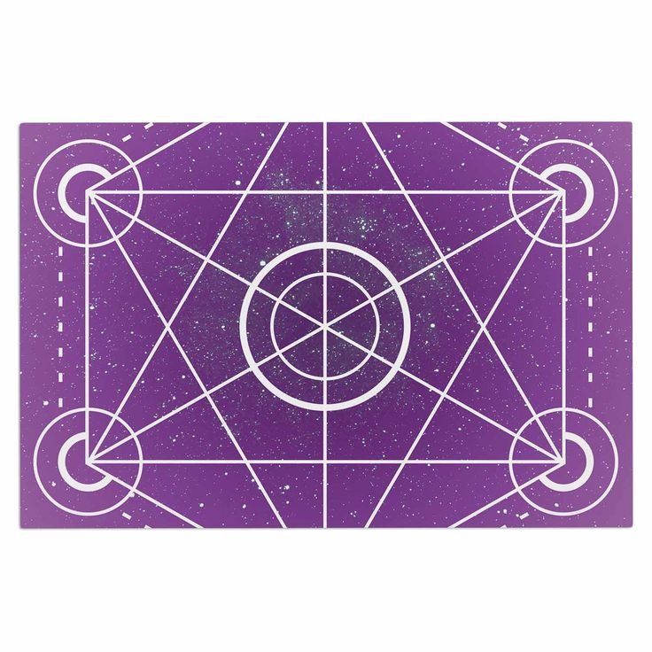 "Matt Eklund ""Dalaran"" Geometric Purple Decorative Door Mat"