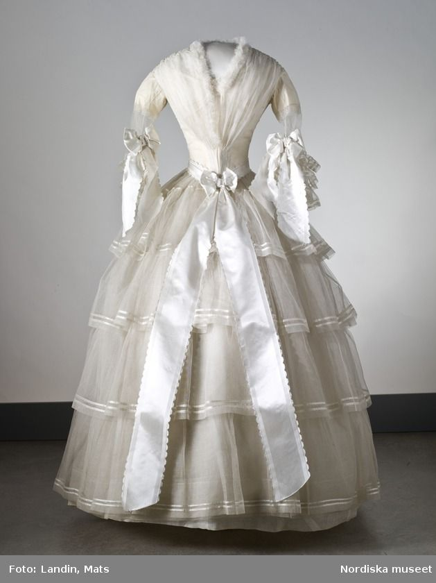 swedish wedding dress, 1854
