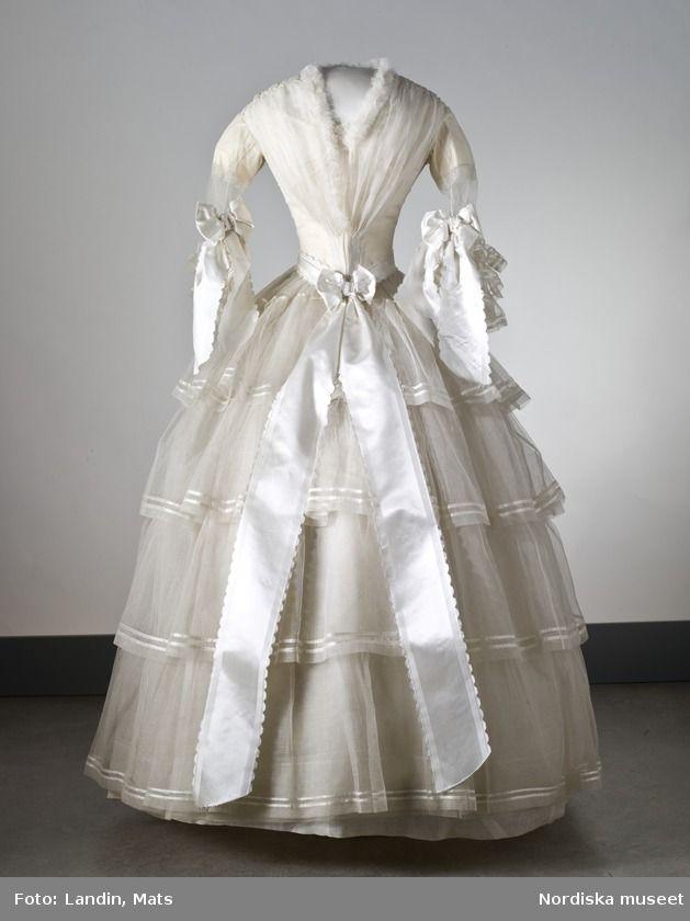 swedish wedding dress, 1854