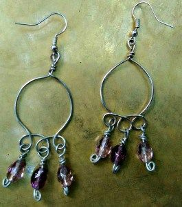 handmade-earrings-silver-mauve-1