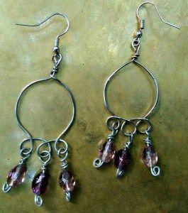 handmade-earrings-silver-mauve-1
