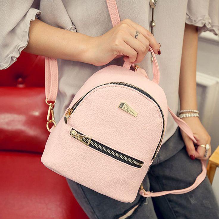 Women Mini Backpack for Girl Lovely Small Back Pack PU Leather Handle Shoulder Strap Designer Brand Casual Backpacks Women Bags