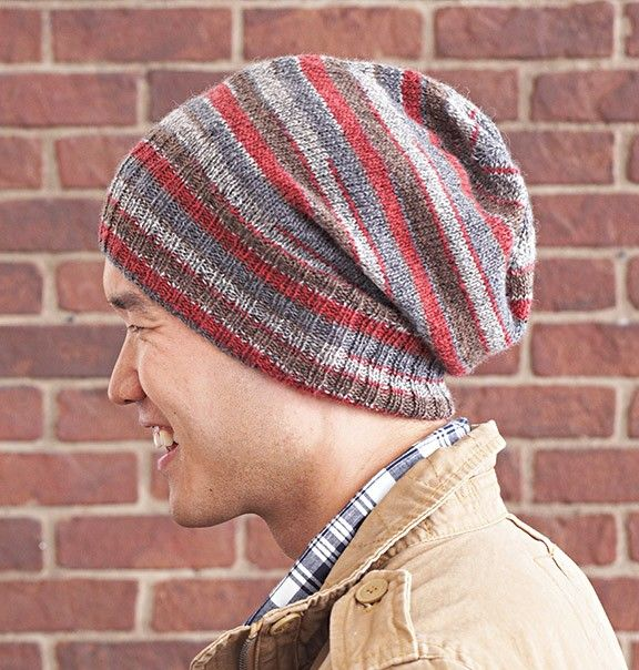 Follow this free knit pattern to create a beanie using Patons Kroy Sock Yarn ...