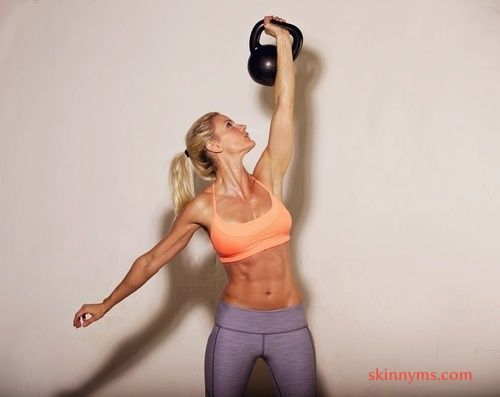 Kettlebells are our friends! #SkinnyMsFitness