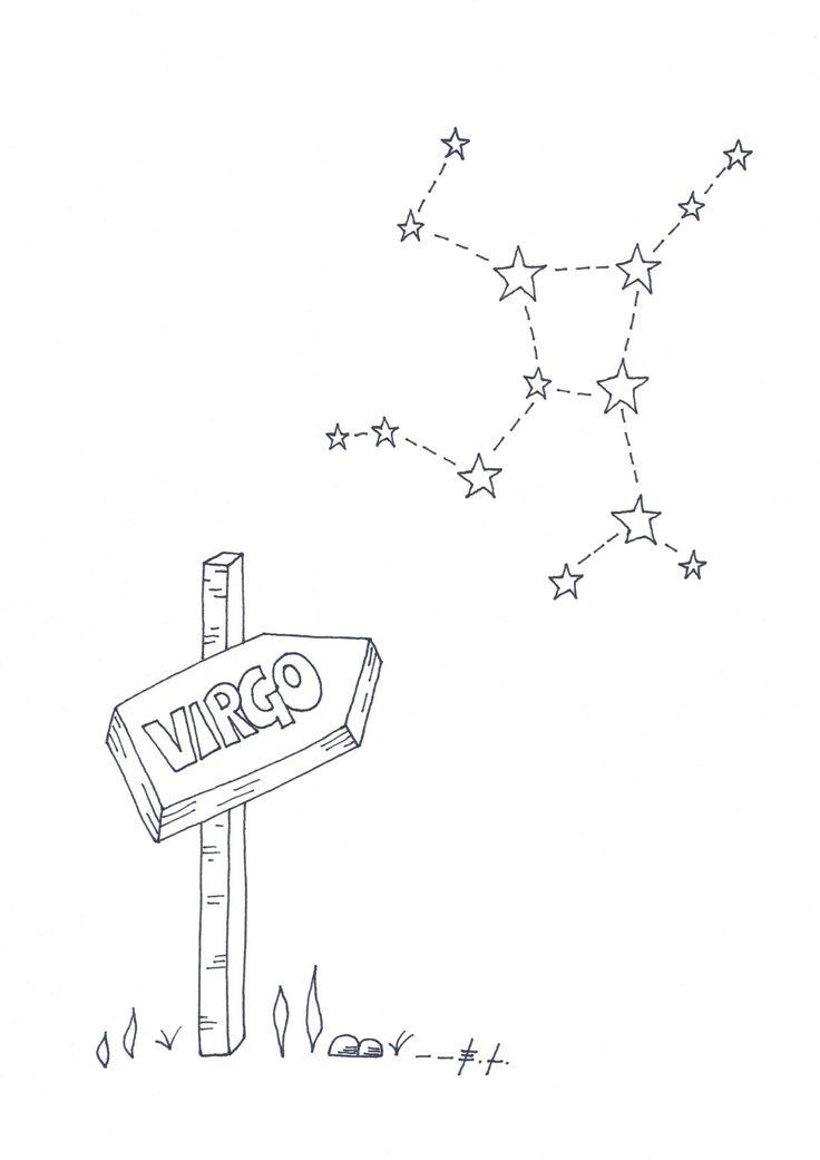 Virgo, segno zodiacale Vergine, poster stampabile, stampa d'arte, download istantaneo, scarica e stampa, astrologia, costellazioni, stelle di ELdesignArt su Etsy