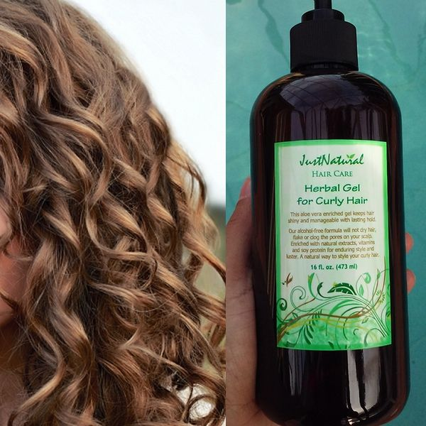 Specially Formulated For Curly Hair This Herbal Gel Provides