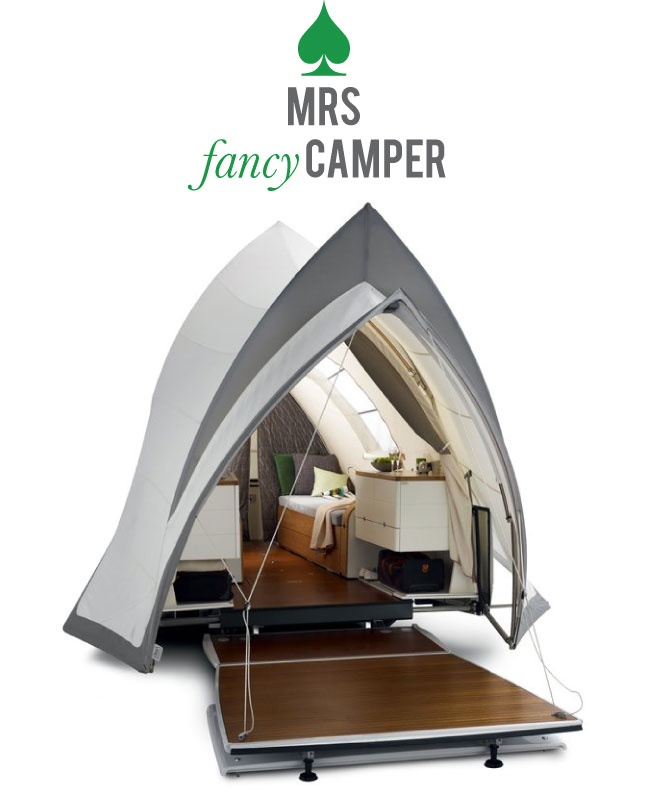 Mrs. Lilien Styling House Blog--fancy camper. imagine camping in this, lol!