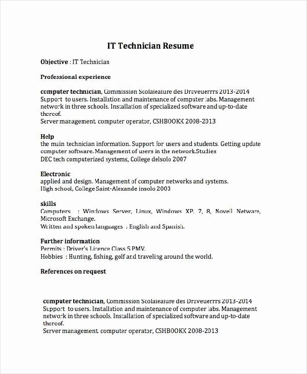 Pin On Example Computer Technician Resume Samples