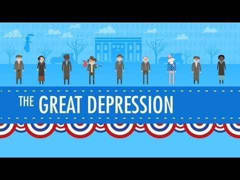 "Video lesson to help with your teaching: ""The Great Depression: Crash Course US History."" The video is about 14 minutes long. You can skip the intro and go to 0:47."