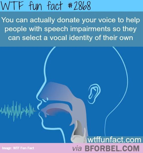 You Can Actually Donate Your Voice…