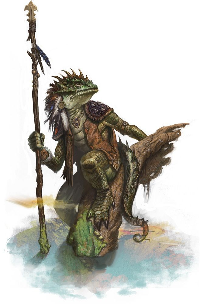 Lizard man monster beast creature animal | Create your own roleplaying game material w/ RPG Bard: www.rpgbard.com | Writing inspiration for Dungeons and Dragons DND D&D Pathfinder PFRPG Warhammer 40k Star Wars Shadowrun Call of Cthulhu Lord of the Rings LoTR + d20 fantasy science fiction scifi horror design | Not Trusty Sword art: click artwork for source