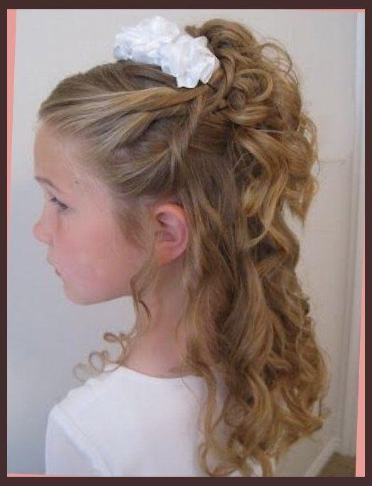 hair up on pinterest | little girl updo, communion and ...