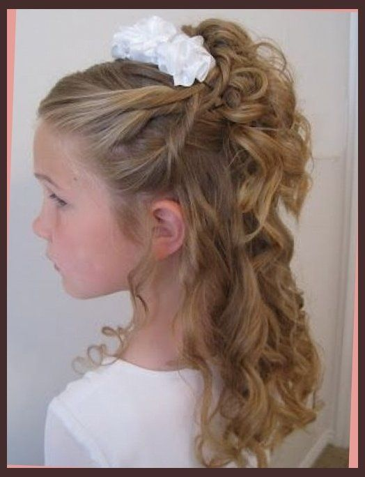 Incredible 1000 Ideas About Communion Hairstyles On Pinterest Girl Hair Short Hairstyles For Black Women Fulllsitofus