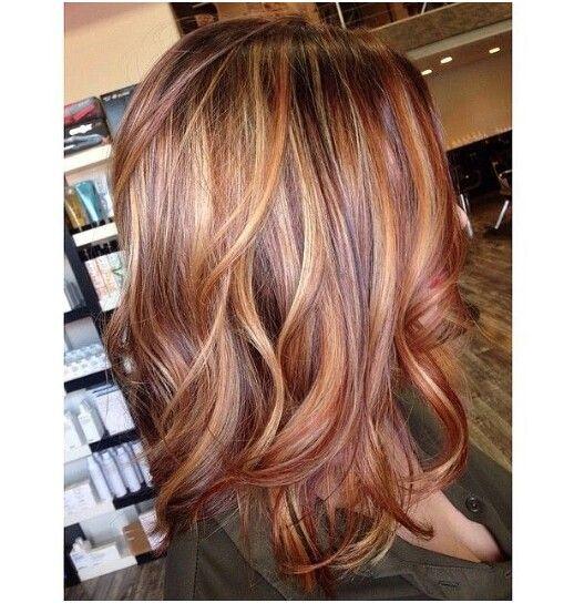 Beautiful Golden Amber Perfect For Fall Hair Pinterest