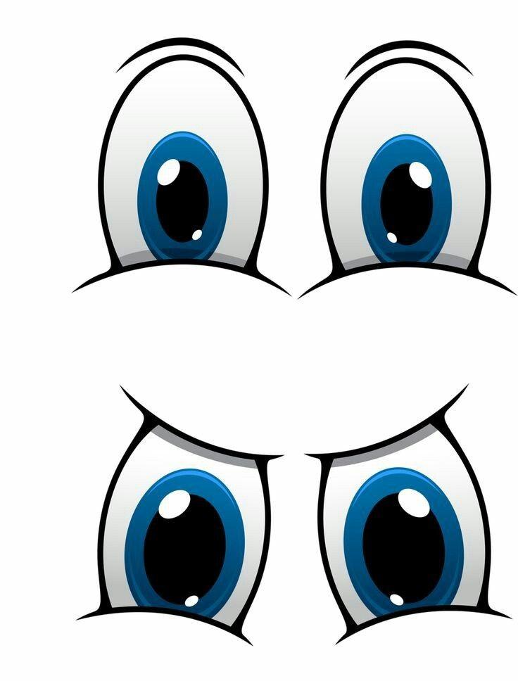 Рисунок глаза смешные, днем рождения