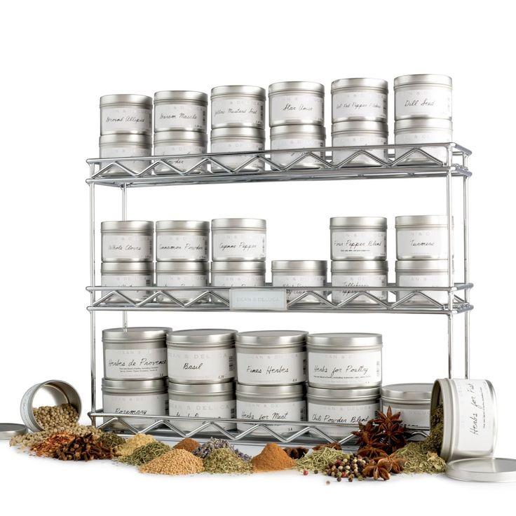 DEAN U0026 DELUCA Metropolitan Rack With 34 Spice Tins