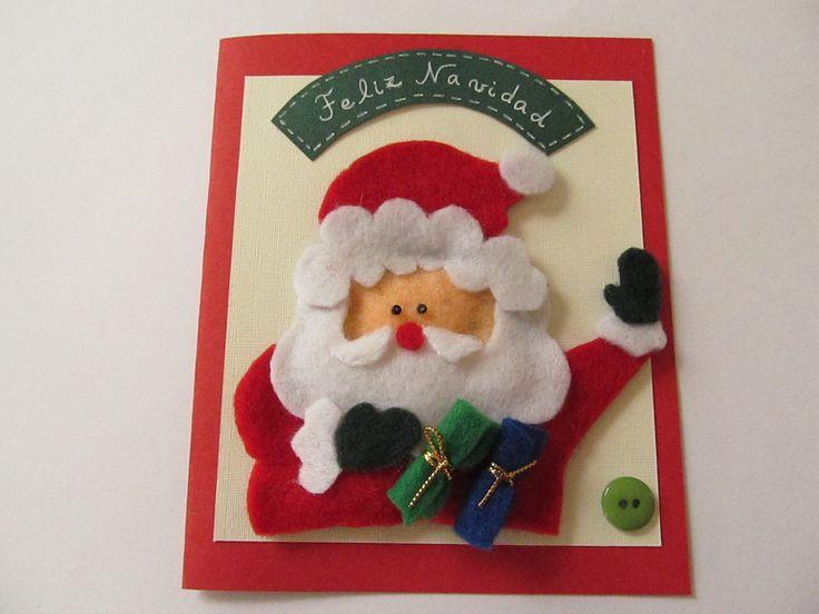 Mejores 28 im genes de tarjetas navide as en pinterest - Manualidades tarjeta navidena ...