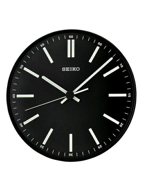 Don't Be Late To the Minimalism Trend // Seiko black and white minimal wall clock