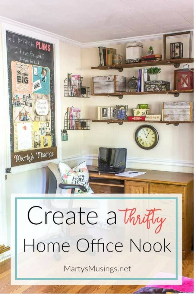 Thrifty Home Ideas 318 best martys musings diy images on pinterest core craft ideas create an organized and thrifty home office nook workwithnaturefo