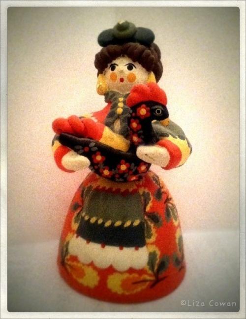 Dymkovo Doll from Russia. (Photo ©Liza Cowan). Idea for the Trumpton characters/shape?