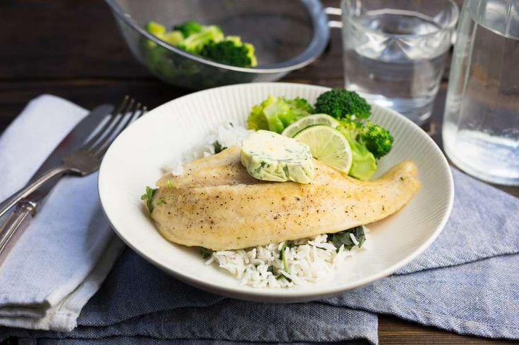 Scholfilet met gember-limoenboter en broccoli