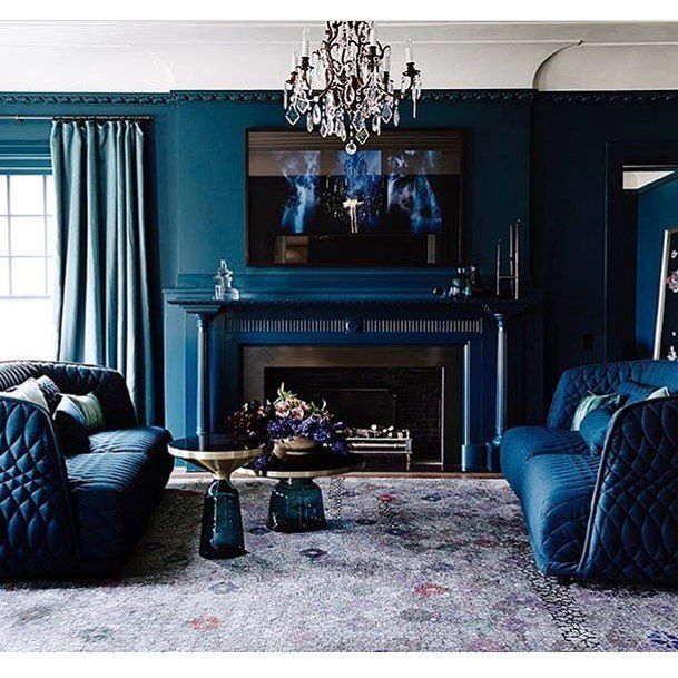 The Deep Blues Used Throughout The Room Keep It Fresh Gorgeous Room By  @robmillsarchitects U2022