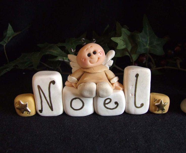 Polymer Clay Christmas Angel by Trisha at Itsybitzy