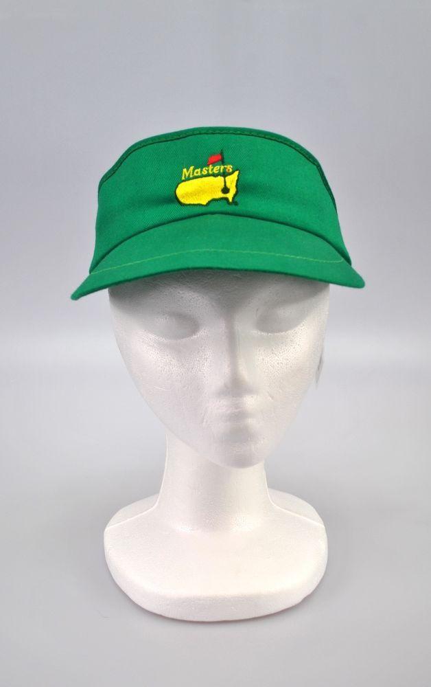 Vintage Master's Augusta Golf Tournament Green Visor PGA Golf Georgia #UnitedHattersCapMillineryWorkers #Visor