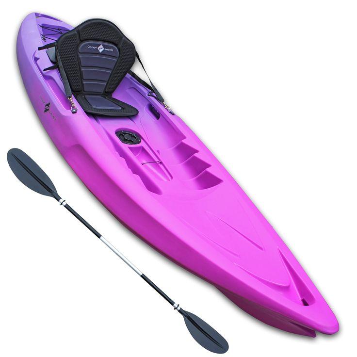 Concept Cirrus Single Sit On Top Kayak - Ultimate Bundle - Pink & Purple