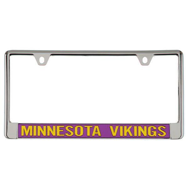 Minnesota Vikings Metal Frame Acrylic Bottom Inlaid Mirror License Plate Frame - $19.99