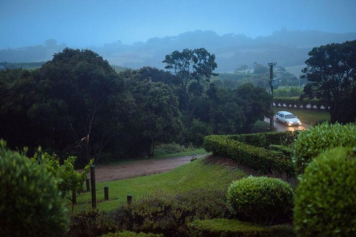 The evening of a cosy, wet January wedding | Mudbrick Vineyard & Restaurant, Waiheke Island