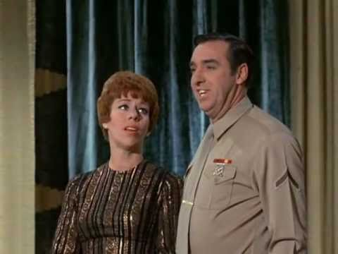 """Jim Nabors as Pfc Gomer Pyle and Carol Burnett as Sgt. Carol sing a medley of several songs. The clip is from Gomer Pyle USMC season 5, Episode 28 - """"Showtim..."""