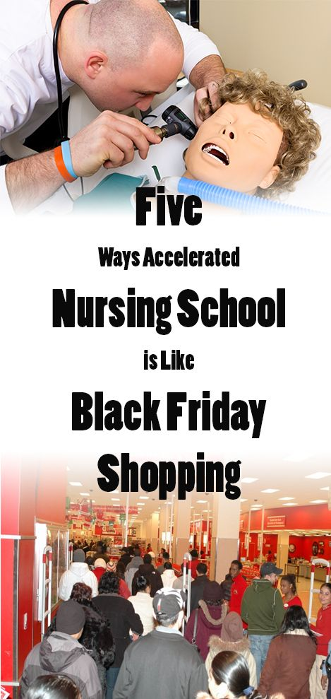 In our accelerated nursing programs in Indianapolis and Nashville, some similarities can be drawn between the Black Friday shopping and nursing school.
