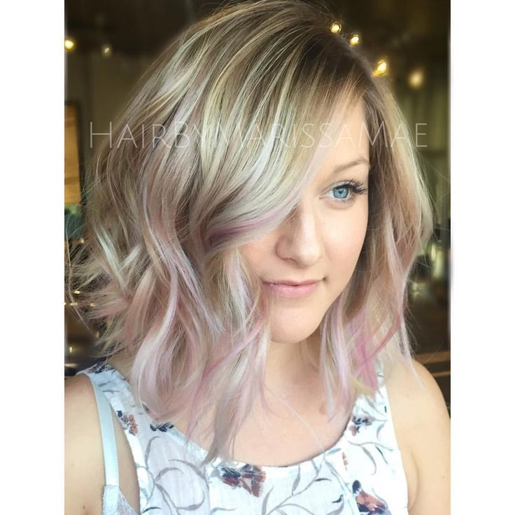 """Marissa Mae on Instagram: """"Up-close of this icy blonde and pastel pink from the other day #hairbymarissamae"""""""