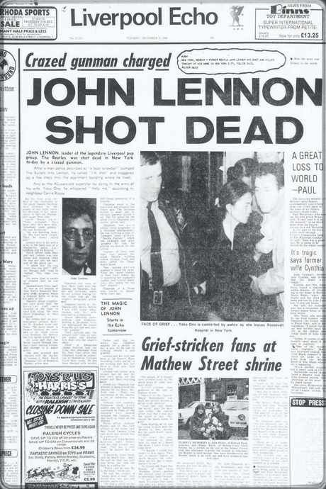 Story of the Liverpool ECHO: Famous front pages from our history ...