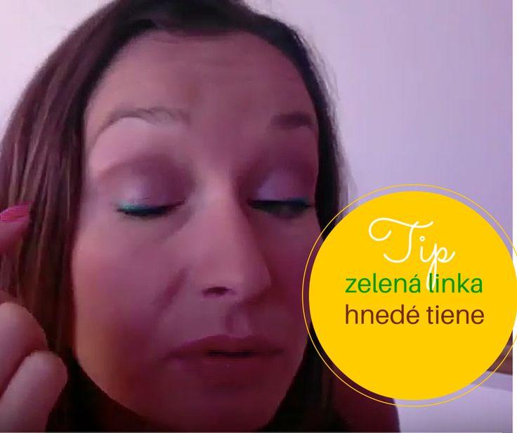 Líčenie očí - oživte hnedé tiene zelenou tekutou linkou - Martina Lamošová