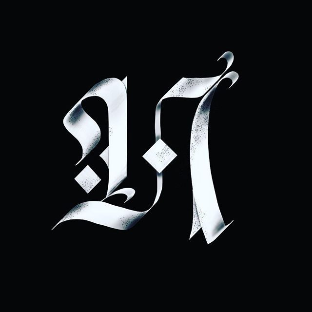 N // 36 Days of Type.Time flies when you're having fun...@36daysoftype / @kerumba.#36daysoftype04 #36days_n #type #tyxca #fraktur #blackletter #gothic #3d #procreateapp #handlettering #ipadpro #typism #50words #strengthinletters #blackettersociety #calligraphy #calligraphymasters #n #alphabet #bftype #artoftype #thedailytype #typeyeah #typespire #thedailytype