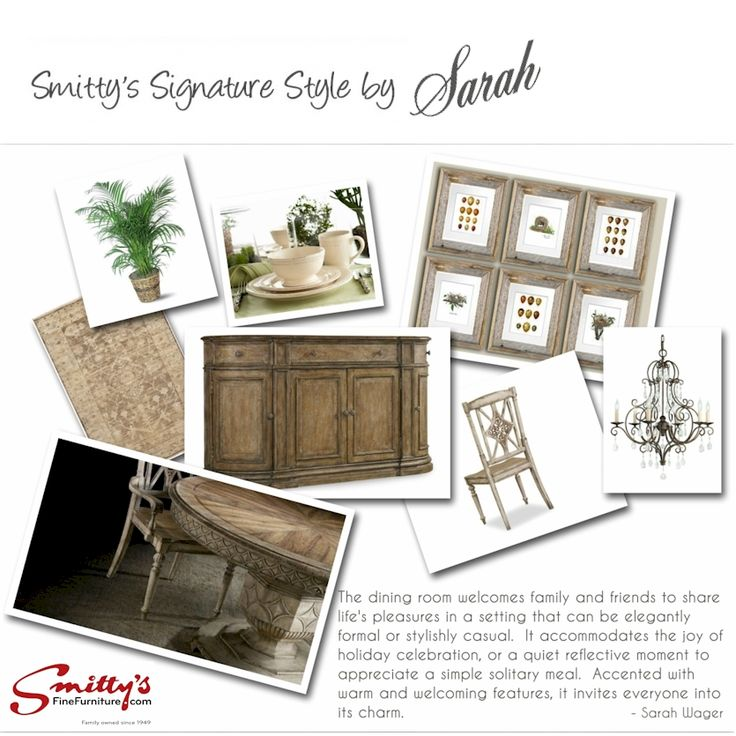 Smitty's signature style  featuring Hooker Furniture & Surya rugs