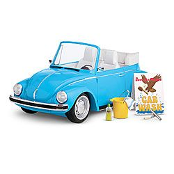 Funny thing is that my first real VW Beetle (bought very used when I was in college) cost less than the American Girl version.    American Girl® Accessories: Julie's Car Wash Set