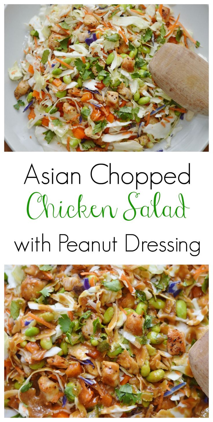 The Art of Comfort Baking: Asian Chopped Chicken Salad with Peanut Dressing. This salad comes together in minutes and the dressing is amazing!