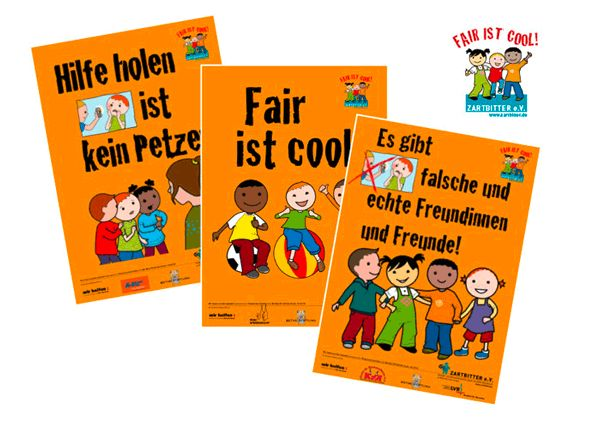 """Hilfe holen ist kein Petzen"", Antimobbing-Poster, Zartbitter e.V. « Dorothee Wolters"